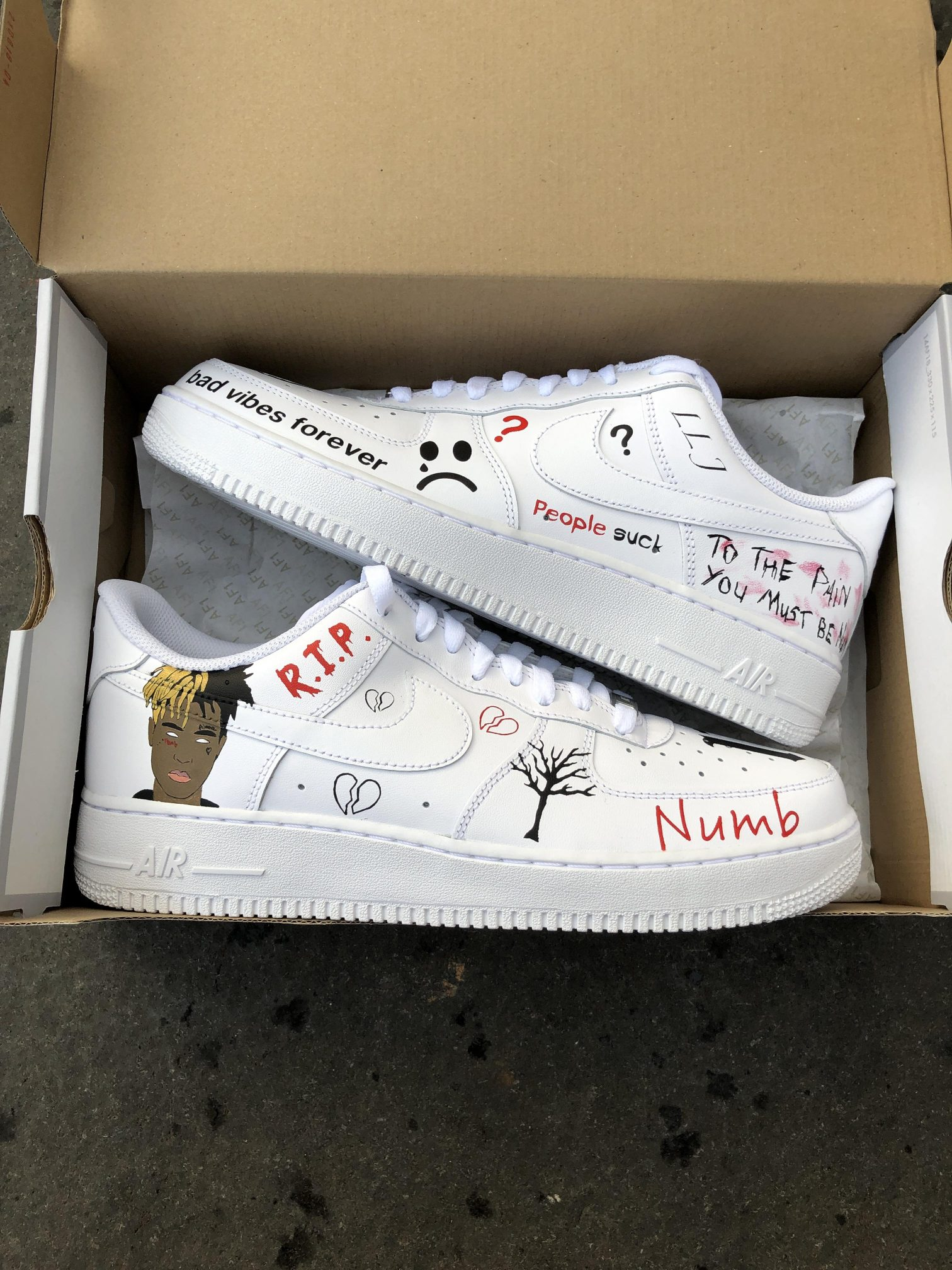 Custom Vans For Sale >> XXXTentacion Air Force 1 - TA-Customs